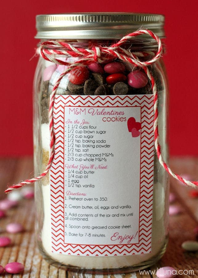 Valentines Cookie Jar Gift