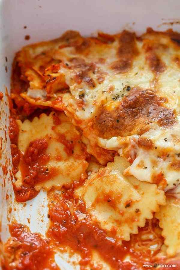Easy Cheesy Ravioli Bake Lil Luna