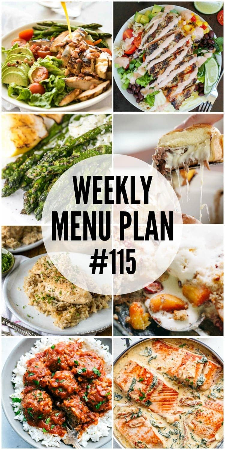 A delicious collection of dinner, side dish and dessert recipes to help you plan your weekly menu and make life easier for you!
