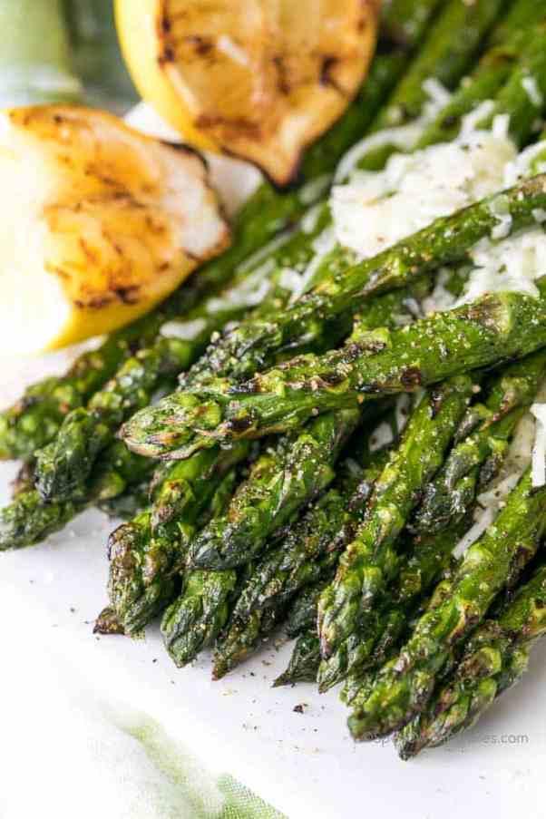 Lemon Parmesan Grilled Asparagus