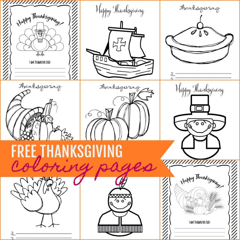 free printable thanksgiving coloring pages  lil' luna