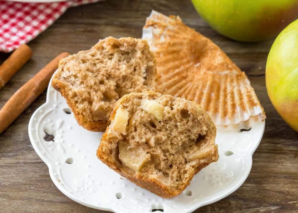 Apple Cinnamon Muffins Recipe on plate