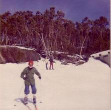 Skiing at Mt Baw Baw, Victoria, Australia