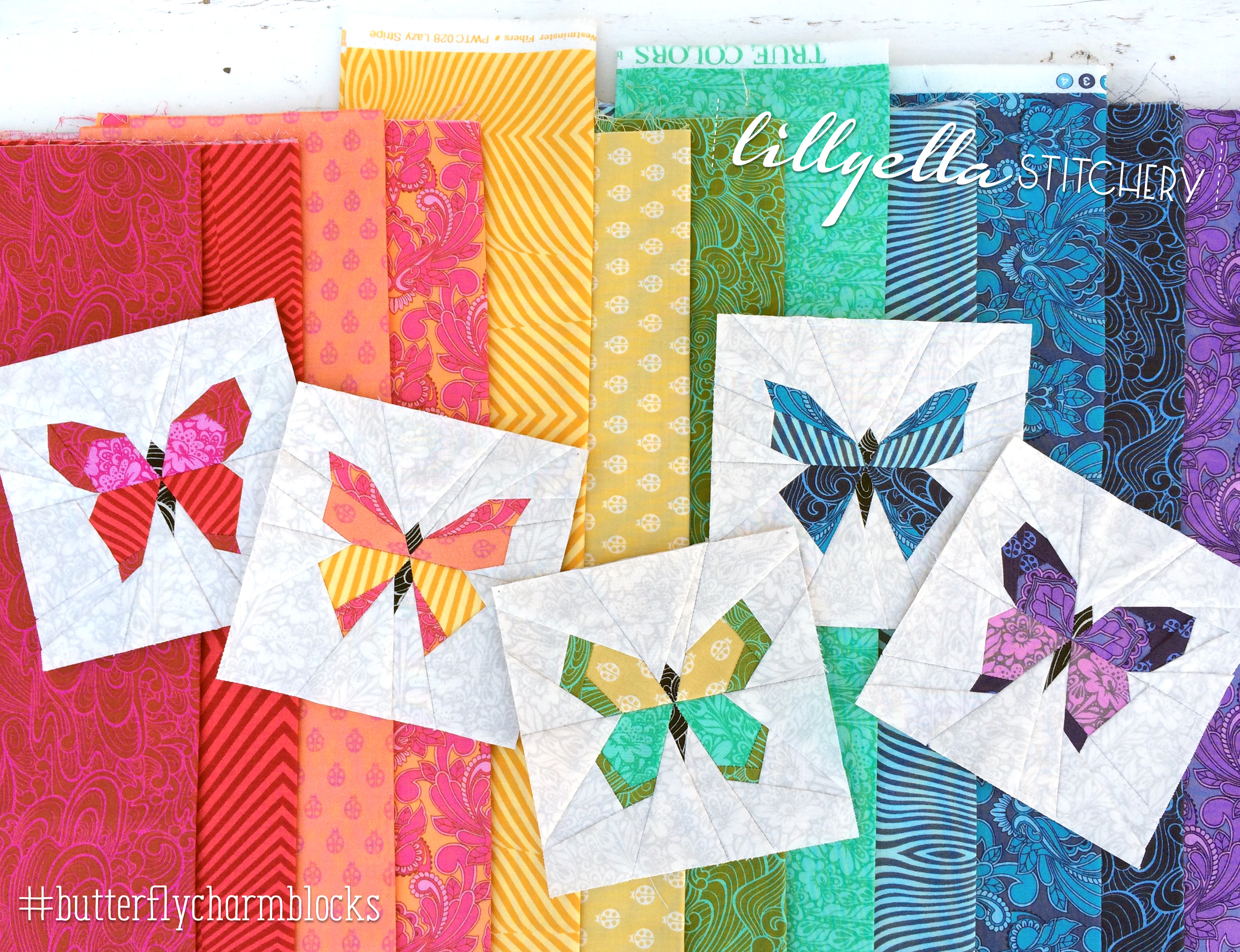 Butterfly Charm Block Paper Piecing Patterns Lillyella