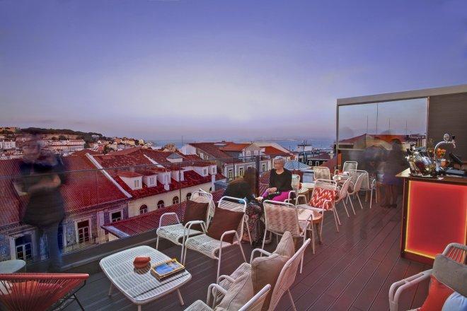 lisbona terrazze bar con vista