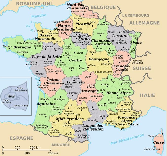 Francia Cartina Geografica.Francia Una Guida Utile Alla Scoperta Del Paese Lilly S