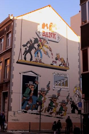 bruxelles fumetti in strada