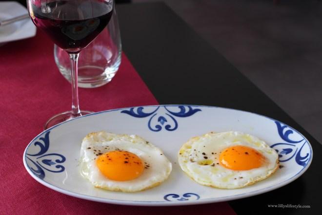 uova ad occhio di bue con tartufo