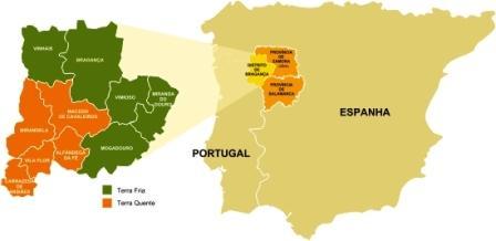 mappa tras-os-montes portogallo