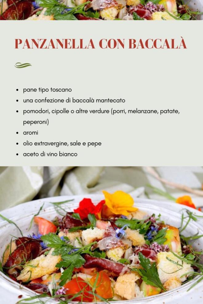 ricetta baccalà e panzanella toscana