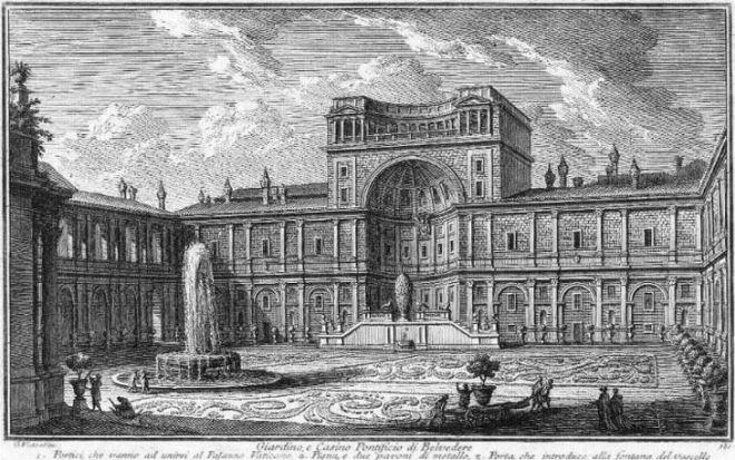 patio Belvedere del Palazzo Apostolico (dei musei vaticani)