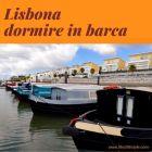 Lisbona barca galleggiante in marina