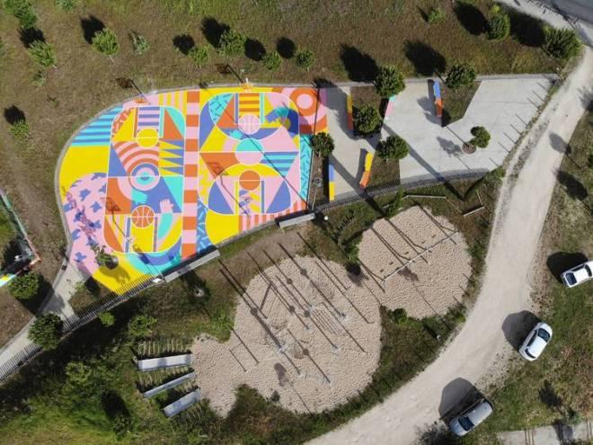 campo minibasket lisbona arte urbana