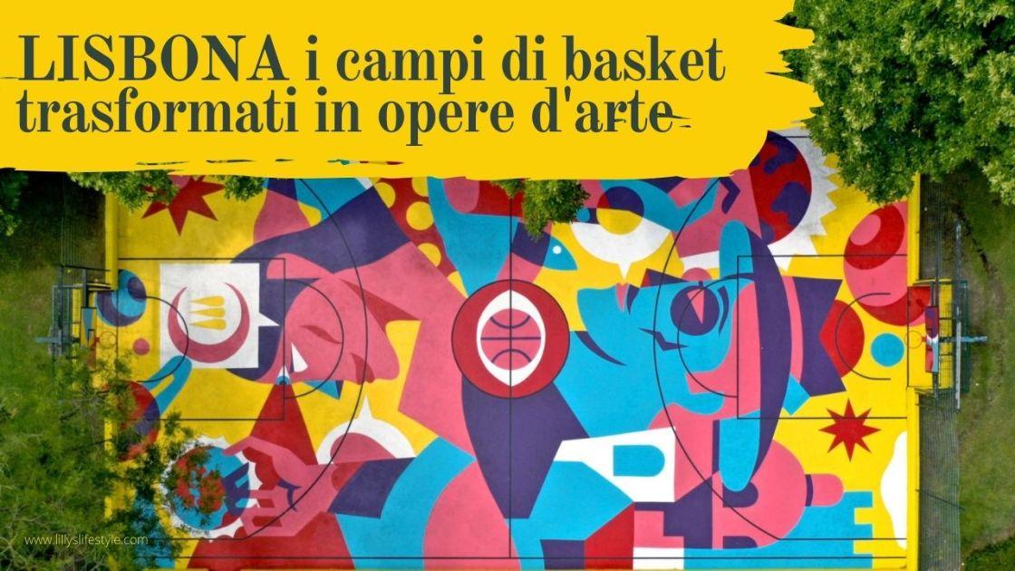 street art lisbona campo basket
