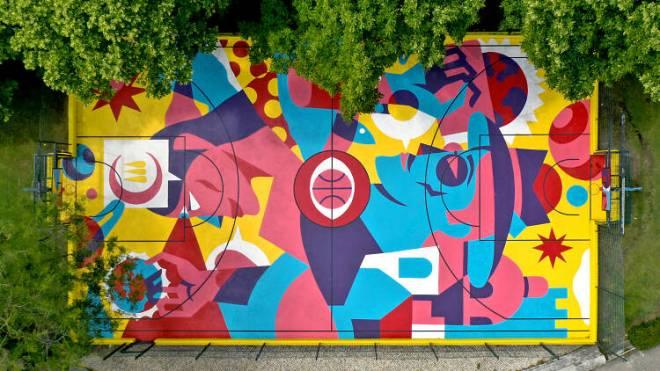 lisbona street art basket