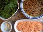Red Lentil Sauce Pasta