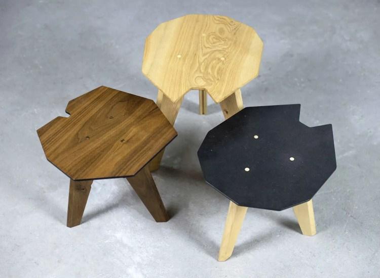 table basse sur mesure asterida 3 modèles de bois brut