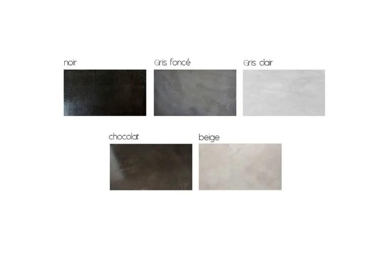 Teintes de béton ciré