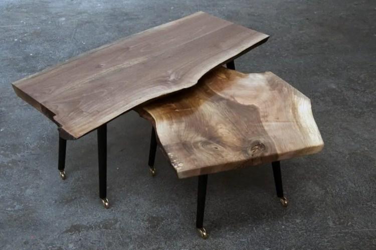 Table en bois brut live edge