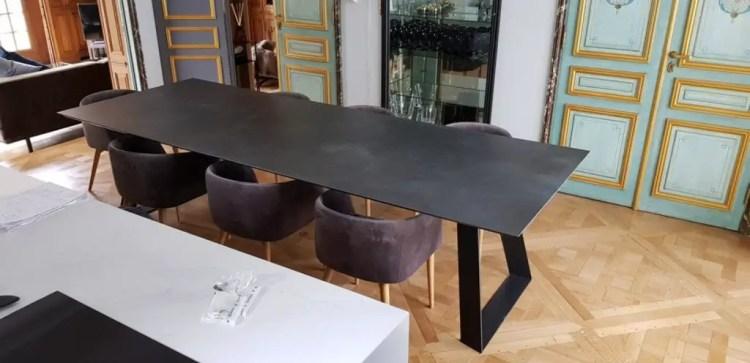table céramique rectangle TOPAZE