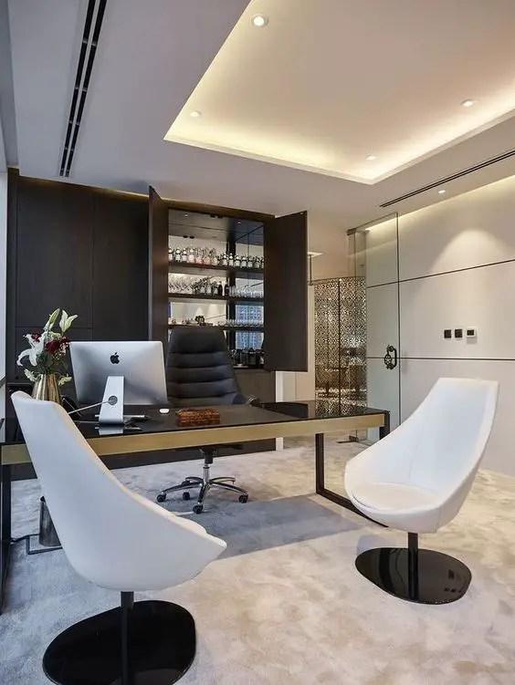 Un bureau design moderne et confortable