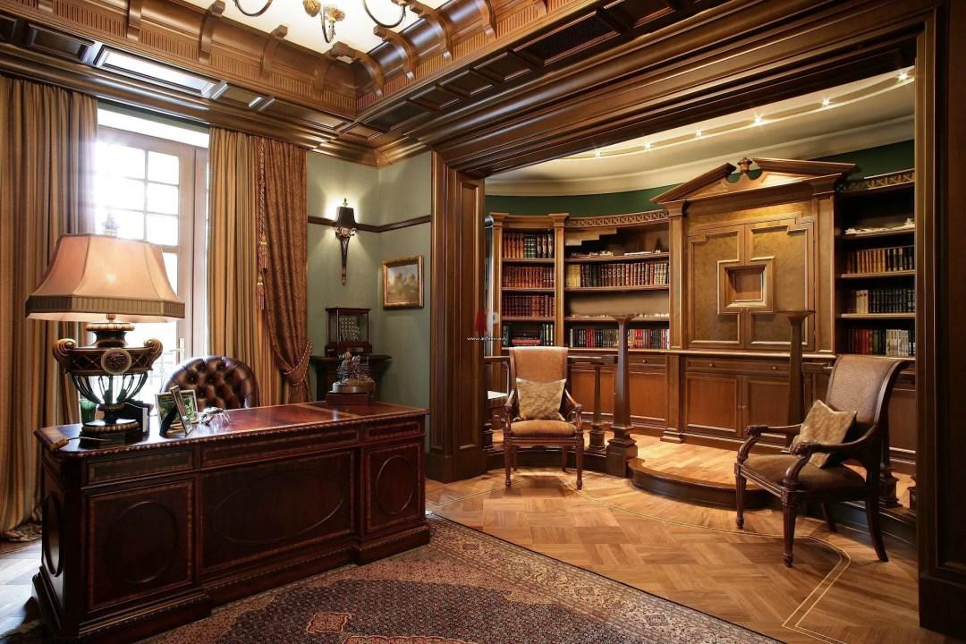 Un bureau design élégant et studieux