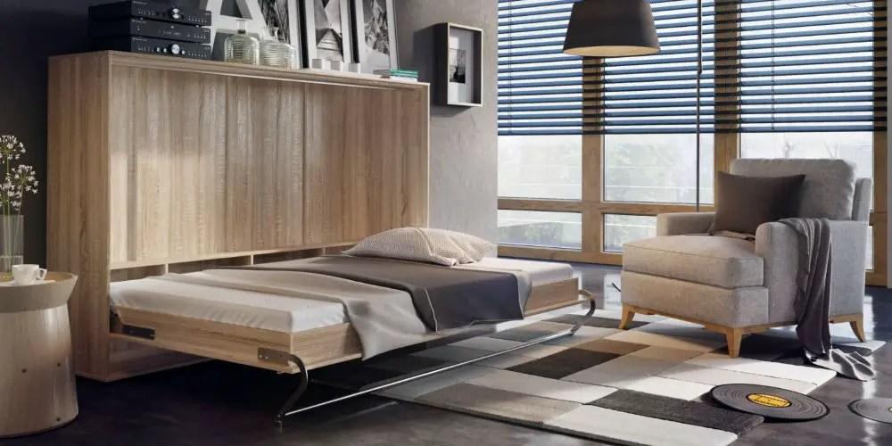 aménagement d'un petit espace, lit escamotable