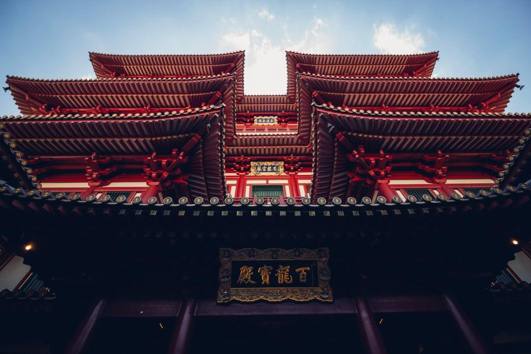 Façade de temple japonais