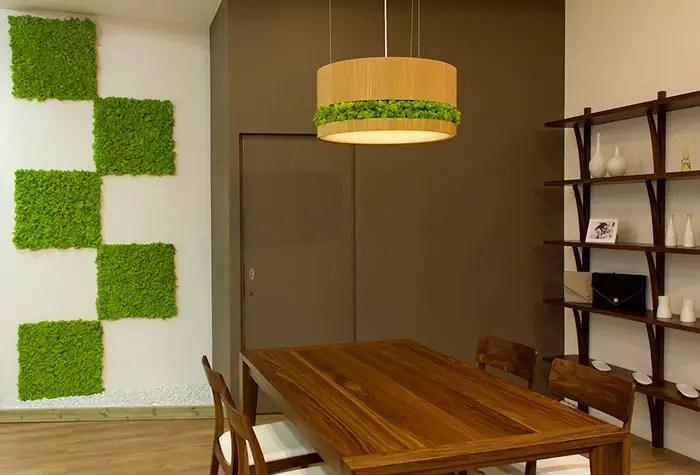 Décoration d'intérieur avec des végétaux stabilisés
