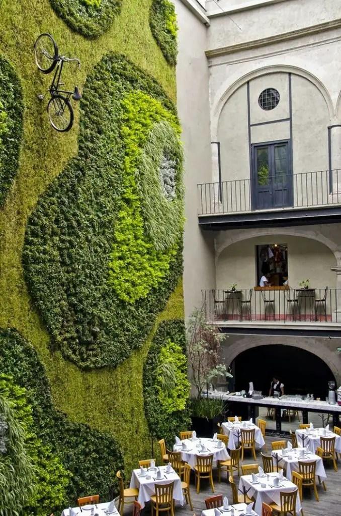 Mur complet en végétal stabilisé