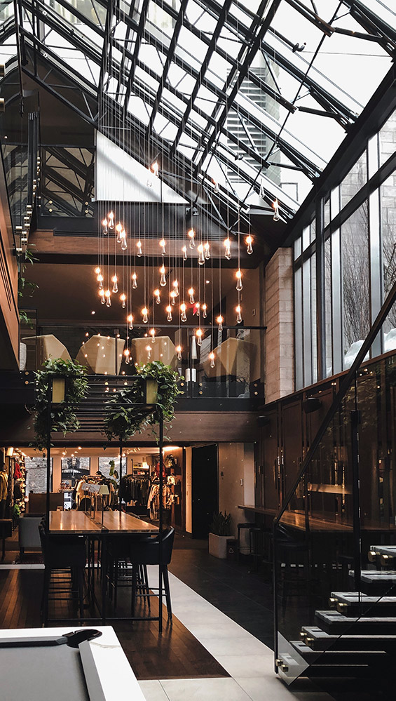 aménagement ou agencement de restaurant