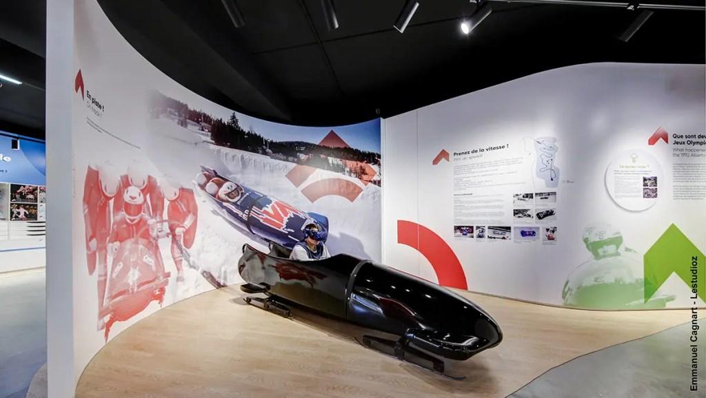 aménagement du musée expérience bobsleigh