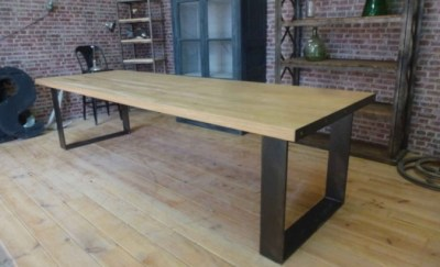 Table industrielle pieds en U artisan