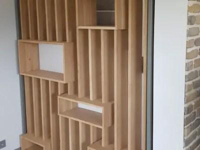 Bibliothèque en bois sur-mesure