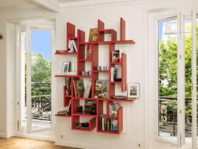Bibliothèque sur-mesure murale en bois