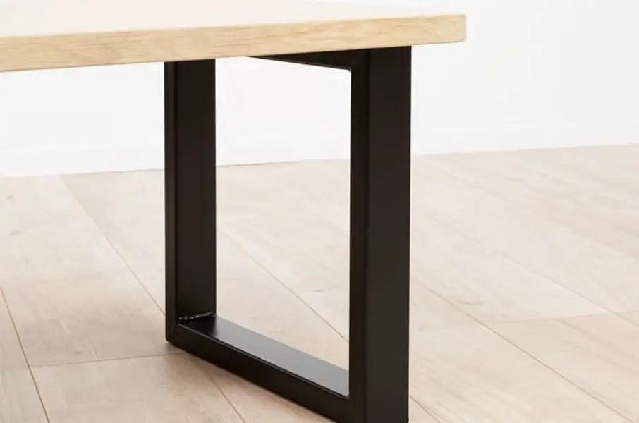 table industrielle pieds carrés ripaton