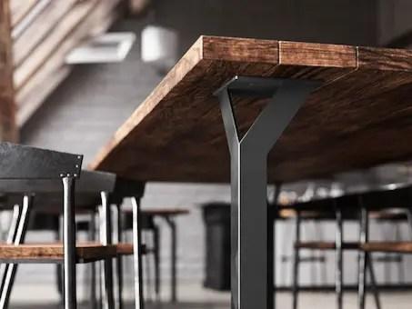pied de table style industriel