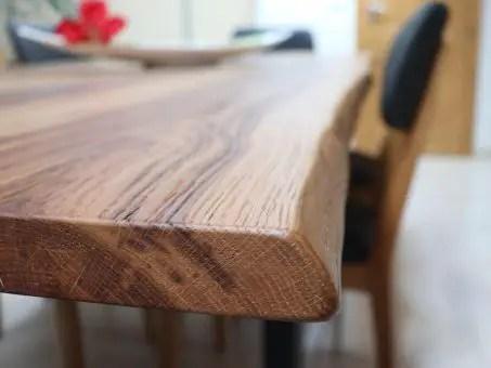 plateau de table en bois de chêne