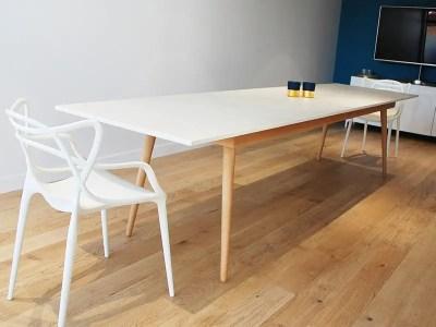 Table de réunion scandinave en céramique