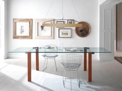 Table extensible en verre