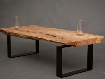 Table Live Edge en bois brut