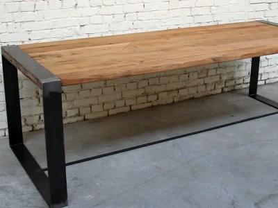 Table vieux plancher