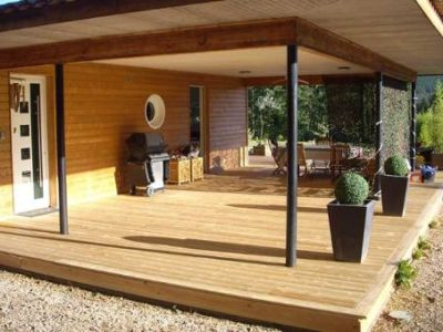 Terrasse en bois mélèze