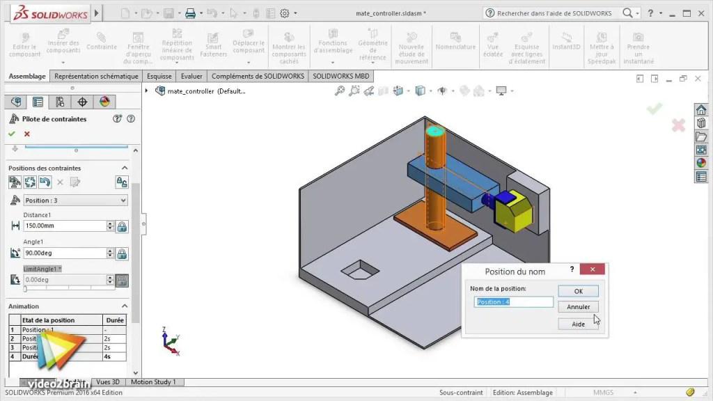 Capture d'écran du logiciel SolidWorks