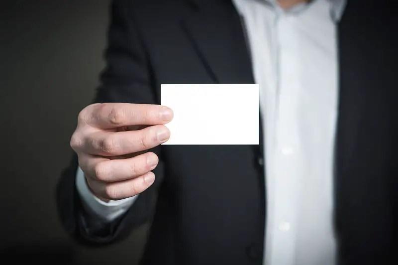 carte professionnelle auto-entrepreneur