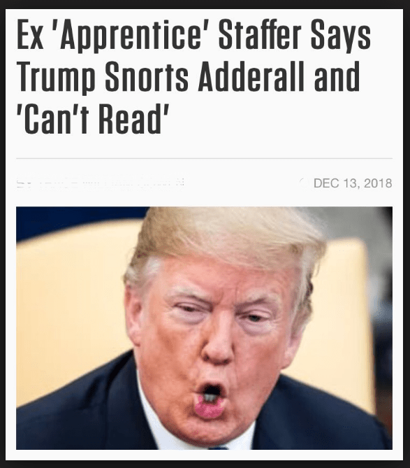 Donald Trump Snorts Addreall