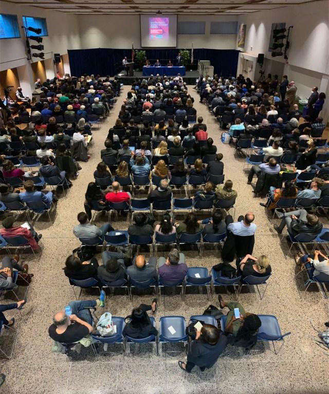 Full House Debate Audience Photo from San Francisco Eastern Neighborhoods Democratic Club