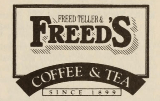 Freed Teller & Freed's was SF's original purveyor of fine roasted coffee beans that used an antique cash register that could not ring up anything over $9.99 a pound