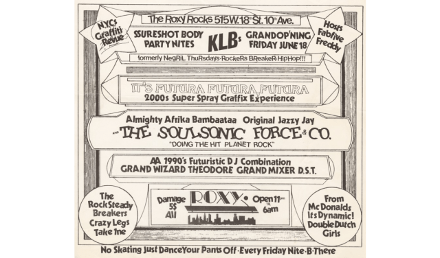 NYC 80's Hip-Hop Club Flyer