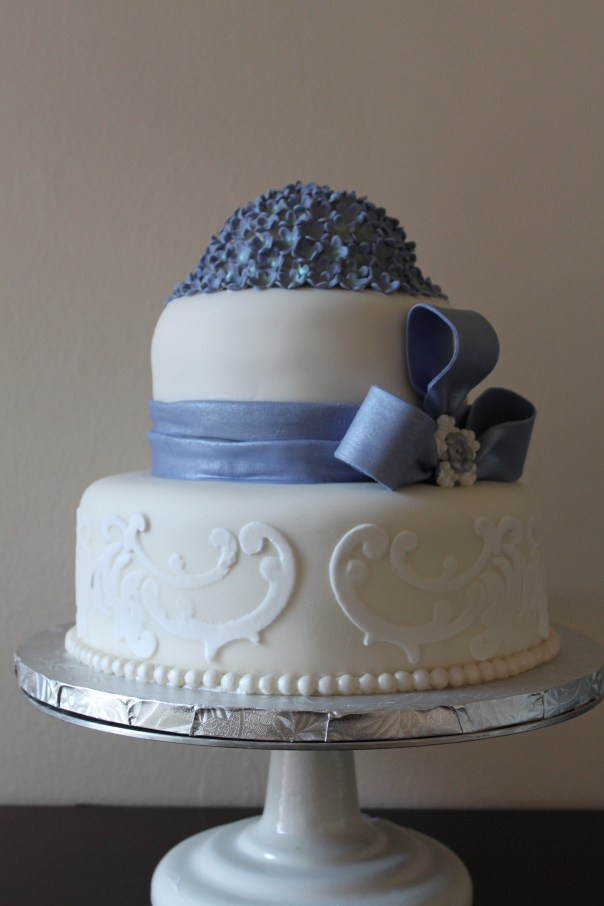 hydrangea cake